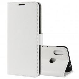Atverčiamas dėklas, knygutė - baltas (Redmi Note 6 Pro)