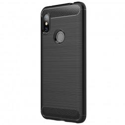 """""""Carbon"""" kieto silikono (TPU) dėklas - juodas (Redmi Note 6 Pro)"""
