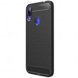 """""""Carbon"""" kieto silikono (TPU) dėklas - juodas (Redmi Note 7)"""