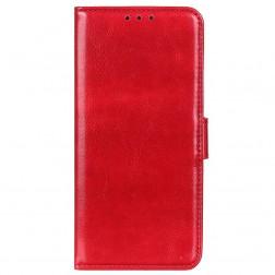 Atverčiamas dėklas, knygutė - raudonas (Redmi Note 8)