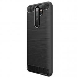 """""""Carbon"""" kieto silikono (TPU) dėklas - juodas (Redmi Note 8 Pro)"""