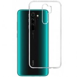 Kieto silikono (TPU) dėklas - skaidrus (Redmi Note 8 Pro)