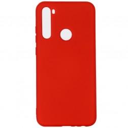 """""""Shell"""" kieto silikono (TPU) dėklas - raudonas (Redmi Note 8T)"""