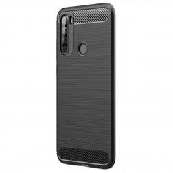 """""""Carbon"""" kieto silikono (TPU) dėklas - juodas (Redmi Note 8T)"""