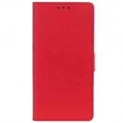 Atverčiamas dėklas, knygutė - raudonas (Redmi Note 8T)