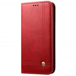 """""""Deluxe"""" atverčiamas dėklas - raudonas (Redmi Note 9)"""