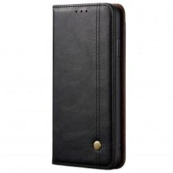 """""""Deluxe"""" atverčiamas dėklas - juodas (Redmi Note 9 Pro)"""