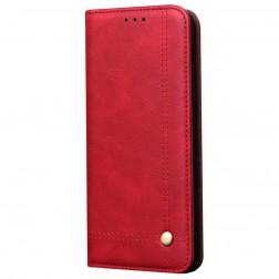 """""""Deluxe"""" atverčiamas dėklas - raudonas (Redmi Note 9 Pro)"""