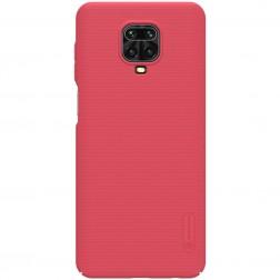 """""""Nillkin"""" Frosted Shield dėklas - raudonas (Redmi Note 9 Pro)"""