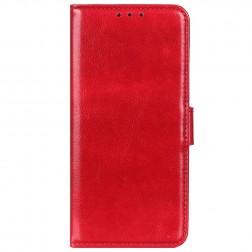 Atverčiamas dėklas, knygutė - raudonas (Redmi Note 9)
