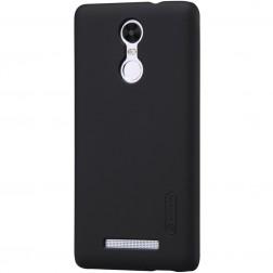 """""""Nillkin"""" Frosted Shield dėklas - juodas + apsauginė ekrano plėvelė (Redmi Note 3 / Redmi Note 3 Pro)"""