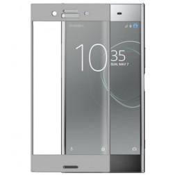 """3D Rewan"" Tempered Glass apsauginis ekrano stiklas 0.26 mm - sidabrinis (Xperia XZ Premium)"