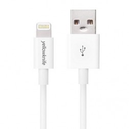 """YellowKnife"" Lightning USB laidas - baltas (1 m.)"