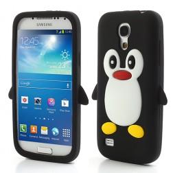 Žaismingas silikoninis dėklas - pingvinas (Galaxy S4 mini)