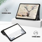 """Apple iPad Air 4 10.9"""" (2020) atverčiamas juodas dėklas - knygutė"""