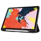 """Apple iPad Air 4 10.9"""" (2020) atverčiamas juodas odinis dėklas - knygutė su vieta liestukui"""