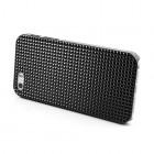 Juodas stilingas reljefinis 3D Apple iPhone SE (5, 5s) dėklas (dėkliukas, nugarėlė)