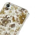 Geltonas, vasariškas plastikinis Apple iPhone SE (5, 5s) dėklas išmargintas gėlėmis