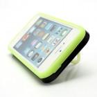 """Juodas tamsoje šviečiantis """"i-Glow"""" silikoninis, plastikinis Apple iPhone SE (5, 5s) dėklas (dėkliukas)"""