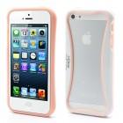 """""""I-Glow"""" rožinės ir baltos spalvų Apple iPhone SE (5, 5s) rėmelis - kraštų apvadas (angl. bumper)"""