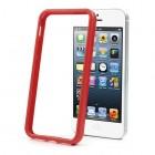Raudonas klasikinis Apple iPhone SE (5, 5s) rėmelis - kraštų apvadas (bamperis)