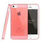 Apple iPhone SE (5, 5s) Leiers skaidrus rožinis kieto silikono TPU ploniausias pasaulyje dėklas