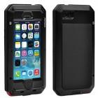 Sustiprintos apsaugos Pepkoo Ultimate juodas aliuminio metalo Apple iPhone SE (5, 5s) dėklas