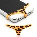"""Telefono geltoni, leopardiniai, minkšto silikono apatiniai (""""triusikai"""")"""