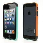 """Oranžinės, mėtinės ir pilkos spalvų """"Walnutt"""" Trio kieto silikono (TPU) Apple iPhone SE (5, 5s) dėklas (rėmelis) - kraštų apvadas, bamperis"""