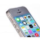 Hoco Light Apple iPhone SE (5, 5s) baltas skaidrus plastikinis plonas dėklas