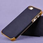 """Apple iPhone SE (5, 5s) """"Gold"""" juodas elegantiškas dėklas"""