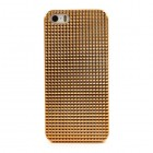 Auksinis stilingas reljefinis 3D Apple iPhone SE (5, 5s) dėklas (dėkliukas, nugarėlė)