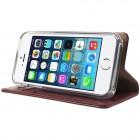 Mercury Blue Moon atverčiamas Apple iPhone SE (5, 5s) bordo odinis dėklas - piniginė