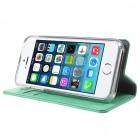 Mercury Blue Moon atverčiamas Apple iPhone SE (5, 5s) mėttinis odinis dėklas - piniginė