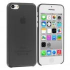 Skaidrus plastikinis juodas Apple iPhone 5C dėklas (dėkliukas)