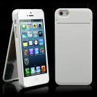 """Baltas """"ONE%+"""" plastikinis Apple iPhone SE (5, 5s) dėklas (dėkliukas) su integruotu veidrodžiu"""