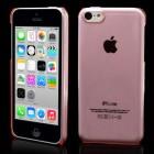 Skaidrus plastikinis rožinis Apple iPhone 5C dėklas (dėkliukas)