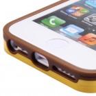 """Geltonas/rudas """"BASEUS"""" kieto silikono Apple iPhone 5C dėklas (rėmelis)"""