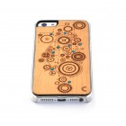 """Apple iPhone SE (5, 5s) """"Crafted Cover"""" Mechanizmas su kristalais natūralaus medžio dėklas (šviesus medis)"""