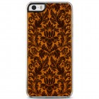 """Apple iPhone SE (5, 5s) """"Crafted Cover"""" Augalai natūralaus medžio dėklas (šviesus medis)"""