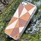 """Apple iPhone SE (5, 5s) """"Crafted Cover"""" Mozaika II natūralaus medžio dėklas (šviesus medis)"""