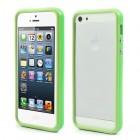 Žalias klasikinis Apple iPhone SE (5, 5s) rėmelis - kraštų apvadas (bamperis)