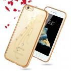 """Apple iPhone 6 (6s) """"JLW"""" Butterfly elegantiškas silikoninis TPU dėklas su auksiniais apvadais"""