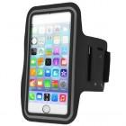 Apple iPhone 6 Plus dėklas sportui (raištis ant rankos) - juodas, universalus (XL+ dydis)