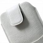 Apple iPhone 6 Plus universali balta odinė įmautė su vieta kortelėms susidėti ir segama prie diržo (XL+ dydis)