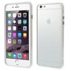 Apple iPhone 6 Plus (6s Plus) skaidrus permatomas rėmelis (kraštų apvadas, bamperis) - baltas