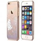 Apple iPhone 6s Plus Devia Crystal Charm Swarovski plastikinis skaidrus permatomas auksinis (violetinis) dėklas su kristalais