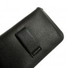 Apple iPhone 6 Plus (6s Plus) juoda odinė telefono įmautė prie diržo