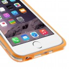 Apple iPhone 6 Plus (6s Plus) skaidrus permatomas rėmelis (kraštų apvadas, bamperis) - oranžinis