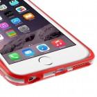 Apple iPhone 6 Plus (6s Plus) skaidrus permatomas rėmelis (kraštų apvadas, bamperis) - raudonas